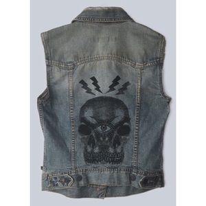 Custom Abercrombie and Fitch denim vest